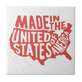 Made in the United States of America Typography Tile