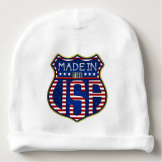 Made in the USA 4th of July Proud American Logo Baby Beanie