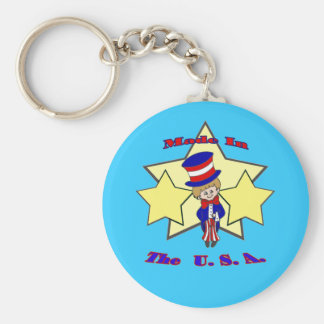 Made in the USA Basic Round Button Keychain