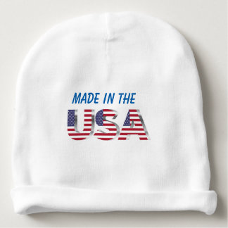 Made In the USA - Blue Baby Beanie