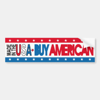 Made in the USA - Buy American Bumper Sticker