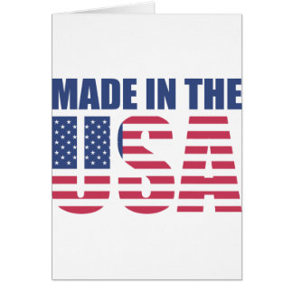 Made In The USA Card