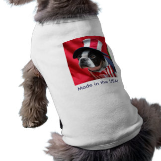 Made in the USA Dog Boston Terrier T Shirt Dog Tee