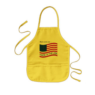 Made in the USA flag Kids' Apron