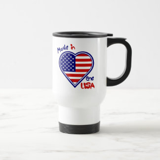 Made in the USA  Heart Flag Travel Mug