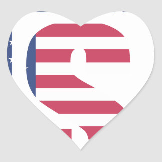 Made In The USA Heart Sticker