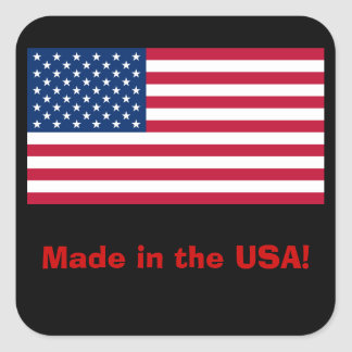 Made In The USA Label Sticker