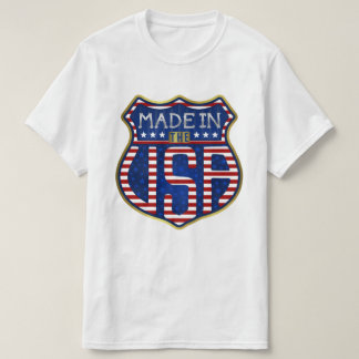 Made in the USA Proud American 4th of July Flag T-Shirt