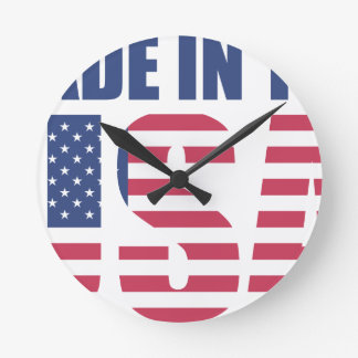 Made In The USA Round Clock