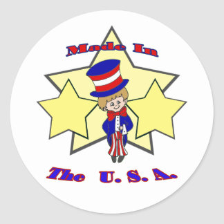 Made in the USA Round Sticker