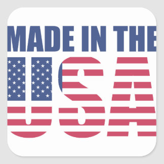 Made In The USA Square Sticker