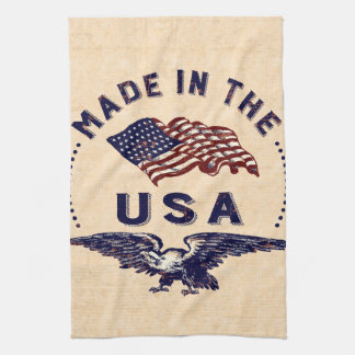 Made in the USA Vintage Eagle and Flag Kitchen Towel