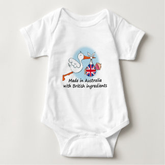 Made in the USA with British Ingredients Baby Bodysuit
