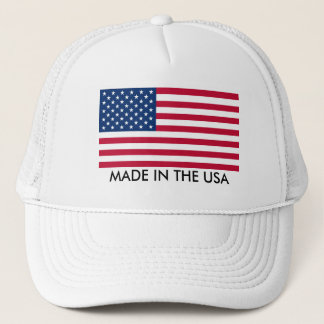 Made in the USA with Flag Trucker Hat