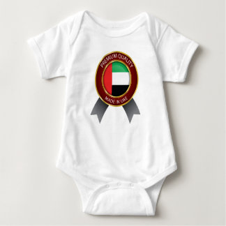 Made in UAE, Abstract UAE Flag, United Arab Emirat Baby Bodysuit
