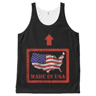 Made In USA All-Over Printed Unisex Tank