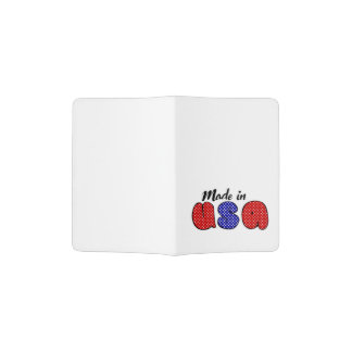 """Made in USA"" cute doode sign Passport Holder"