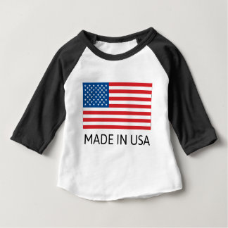 Made In Usa Flag Baby T-Shirt