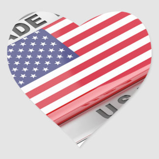 Made in USA Heart Sticker