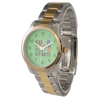 Made in USA Irish Parts Wrist Watch