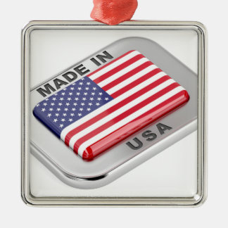 Made in USA Metal Ornament