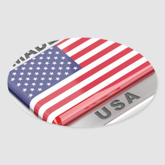 Made in USA Oval Sticker