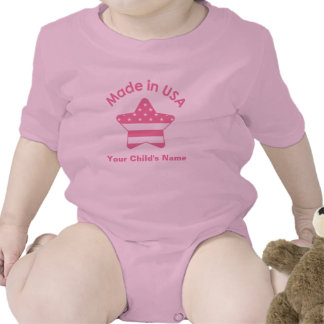 Made In USA Pink Bodysuits