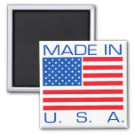 Made in USA Square Magnet