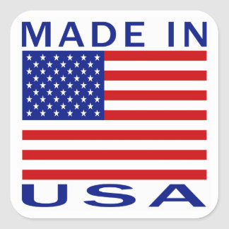 Made In USA Square Sticker