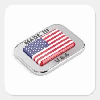 Made in USA Square Sticker
