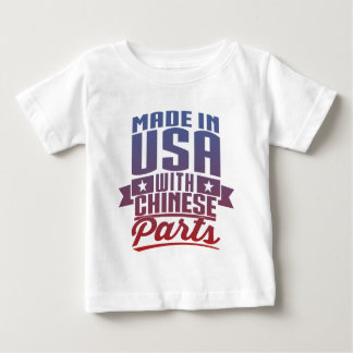 Made In USA With Chinese Parts Baby T-Shirt