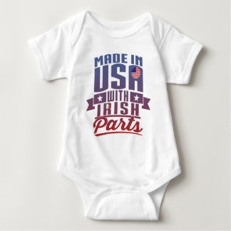 Made In USA With Irish Parts Baby Bodysuit