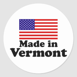 Made in Vermont Classic Round Sticker
