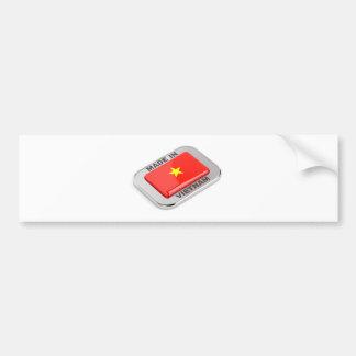 Made in Vietnam shiny badge Bumper Sticker