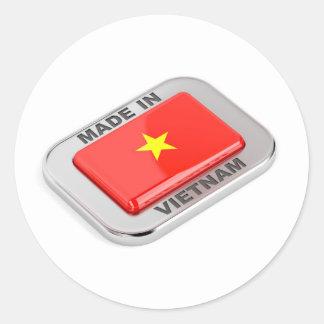 Made in Vietnam shiny badge Classic Round Sticker