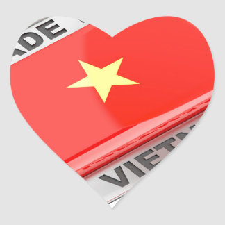 Made in Vietnam shiny badge Heart Sticker