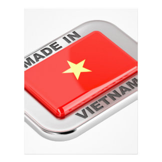 Made in Vietnam shiny badge Letterhead