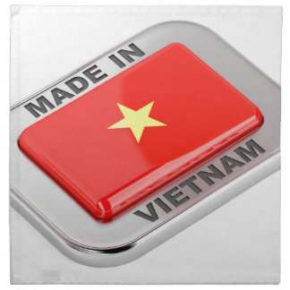 Made in Vietnam shiny badge Napkin