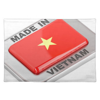 Made in Vietnam shiny badge Placemat
