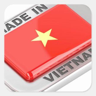 Made in Vietnam shiny badge Square Sticker