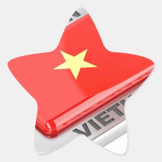 Made in Vietnam shiny badge Star Sticker
