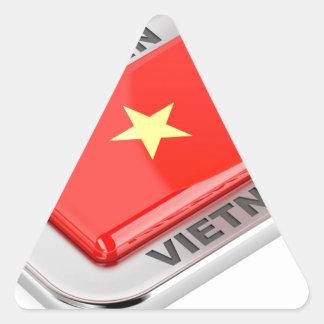 Made in Vietnam shiny badge Triangle Sticker