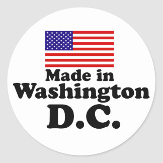 Made in Washington DC Classic Round Sticker