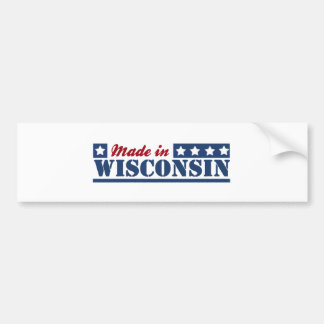 Made In Wisconsin Bumper Sticker