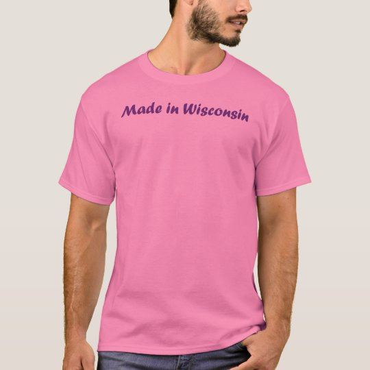 Made in Wisconsin Lettering T-Shirt