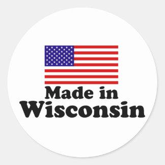 Made in Wisconsin Round Sticker