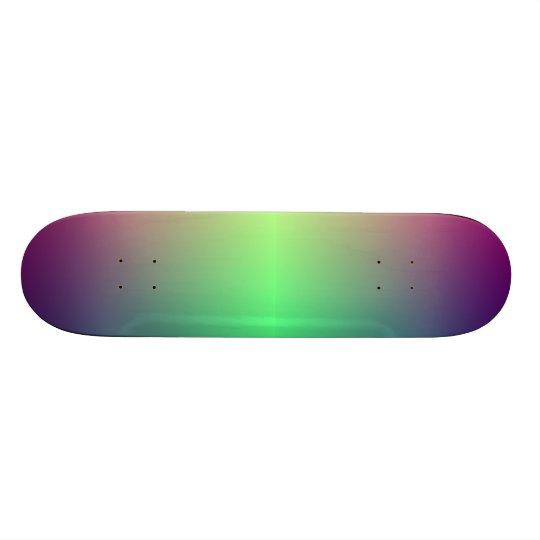 Made iridescent custom skate board