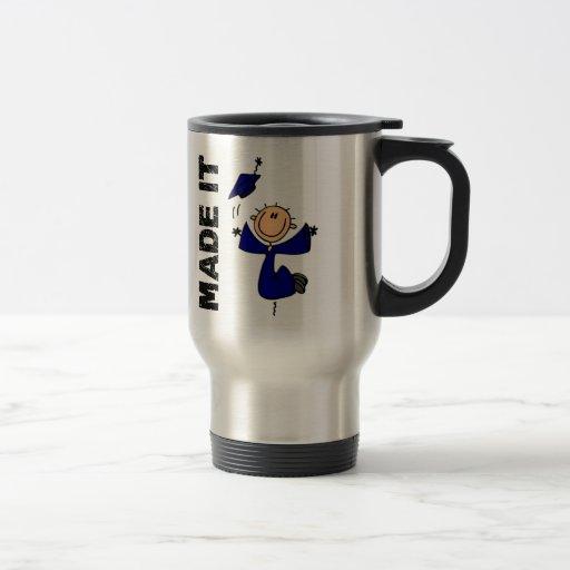 MADE IT Stick Figure Graduation Coffee Mugs