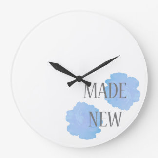Made New Silver + Blue Large Clock