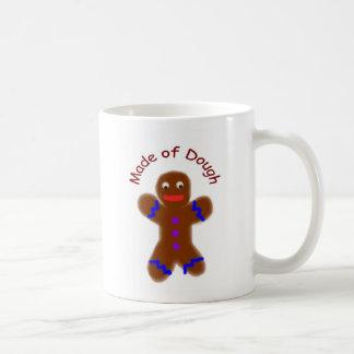 """Made of Dough"" Gingerbread Man Funny Coffee Mug"
